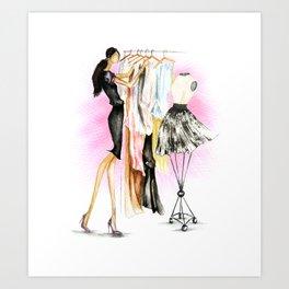 Dressing Up. Art Print