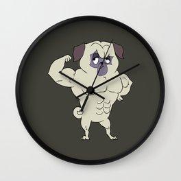 Fit Pug Wall Clock