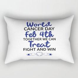 world cancer day theme Rectangular Pillow