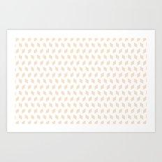 rhombus bomb in linen Art Print