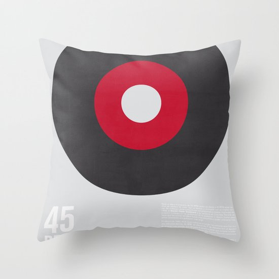 45 RPM Throw Pillow