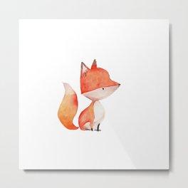 Woodland Critters - Fox Metal Print