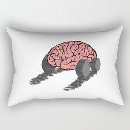 Brain with wheels Rectangular Pillow