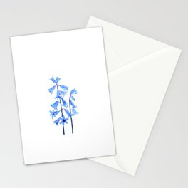botanical bluebell flowers watercolor Stationery Cards