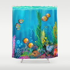 Undersea with Nautilus Shower Curtain
