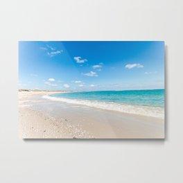 Turquoise Seascape Metal Print