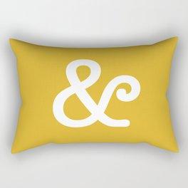 Ampersand Mustard Rectangular Pillow