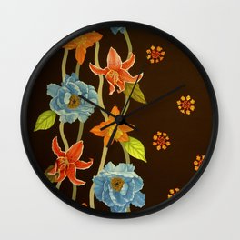 Vintage Flowery Serpentine Wall Clock
