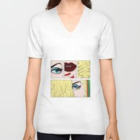 make up V-neck T-shirts featuring make up by snsemstlcp