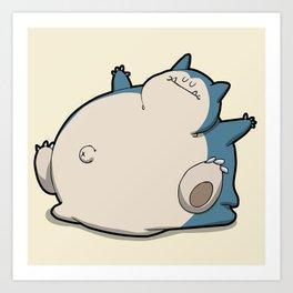 Pokémon - Number 143 Art Print