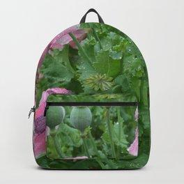 Poppies in rain Backpack
