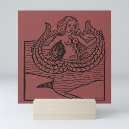 Mermaid on Marsala Mini Art Print
