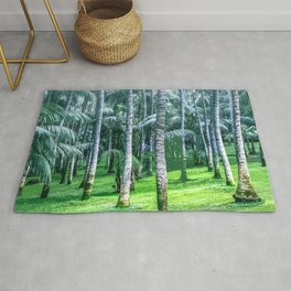 Coconut Trees Artwork Rug