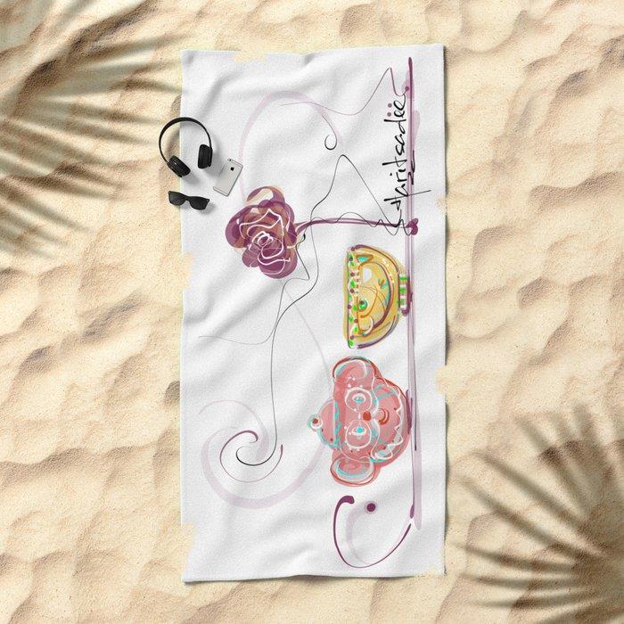 design 6 Beach Towel