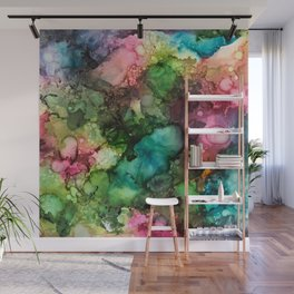 Abstract Fluid Ink Wall Mural