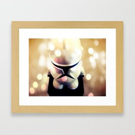 Little Trooper Framed Art Print