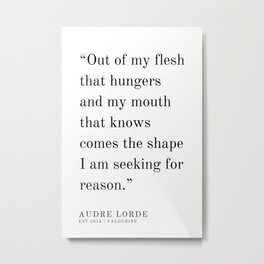 44   | Audre Lorde |Audre Lorde Quotes | 200621 | Black Excellence Metal Print
