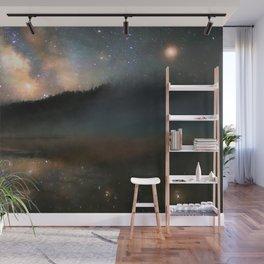 Milky Way Over Yellowstone Wall Mural