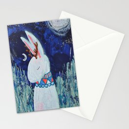 Moon Jackalope Stationery Cards
