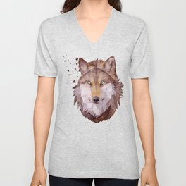Wolf In Process Unisex V-Neck