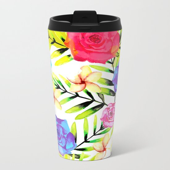 Floral Metal Travel Mug