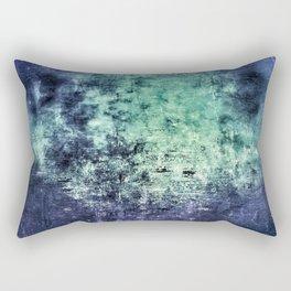 Deep Dark Blue Abyss Abstract #LostPainting Rectangular Pillow
