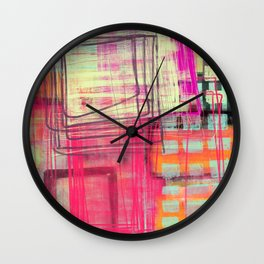 working some things out - abstract painting Wall Clock