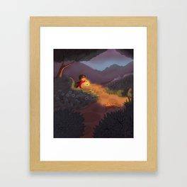 Night Garden Framed Art Print