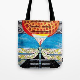 Fire Above, Mountain Below Tote Bag