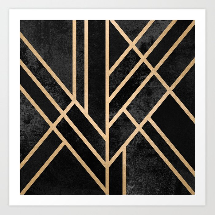 Art Deco Black Kunstdrucke