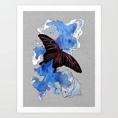 Butterfly II ink by carographic, Carolyn Mielke Art Print