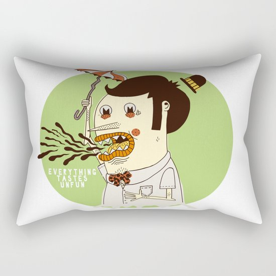 Everything Tastes Unfun Rectangular Pillow