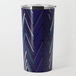 Abstract Chevron Travel Mug