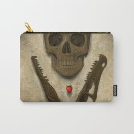 Impermanence - Velociraptor and Human Skull Carry-All Pouch