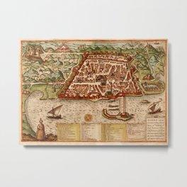 Map Of Algiers 1541 Metal Print