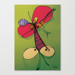 Mosquito Red Hat Canvas Print