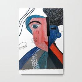 Bi-Polar Portrait Metal Print