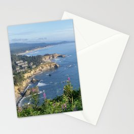 Otter Rock, Oregon from Cape Foulweather Vantage Point Stationery Cards
