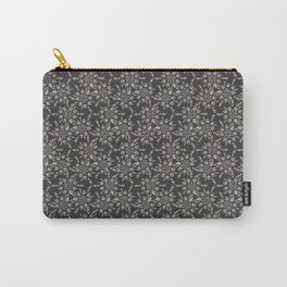 Gray Lace Carry-All Pouch