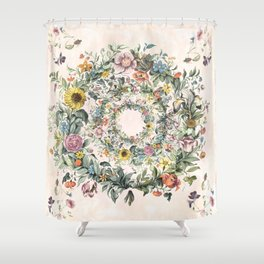 Circle Of Life Floral Shower Curtain