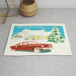 Vintage Christmas Tucker 48' Vintage Car Rug