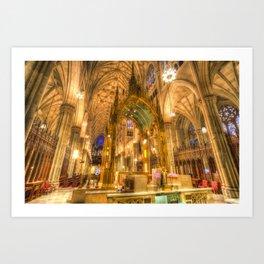 St Patrick's Cathedral New York Art Print