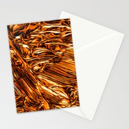 Abstract Gold Fire Paint III Stationery Cards
