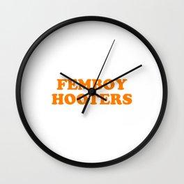Femboy Hooters Wall Clock