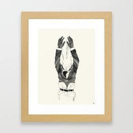 Hanging Mr. Lapin Framed Art Print
