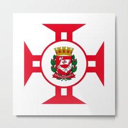 Flag of Sao Paolo -  Non ducor, duco Metal Print
