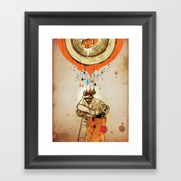 """The Blood & Sap Beneath Me"" Framed Art Print"