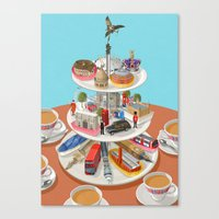 british Canvas Prints featuring a very British past time by John Holcroft