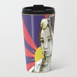 A little Tibetan girl Travel Mug