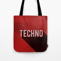 techno Tote Bags featuring Techno by Barbo's Art